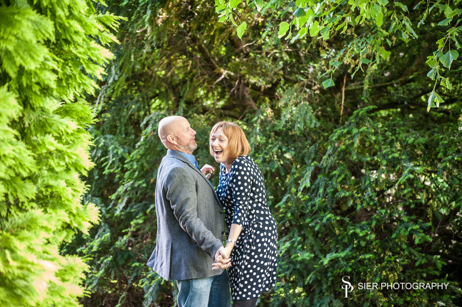 Engagement photography session at the Kenwood Hall Hotel