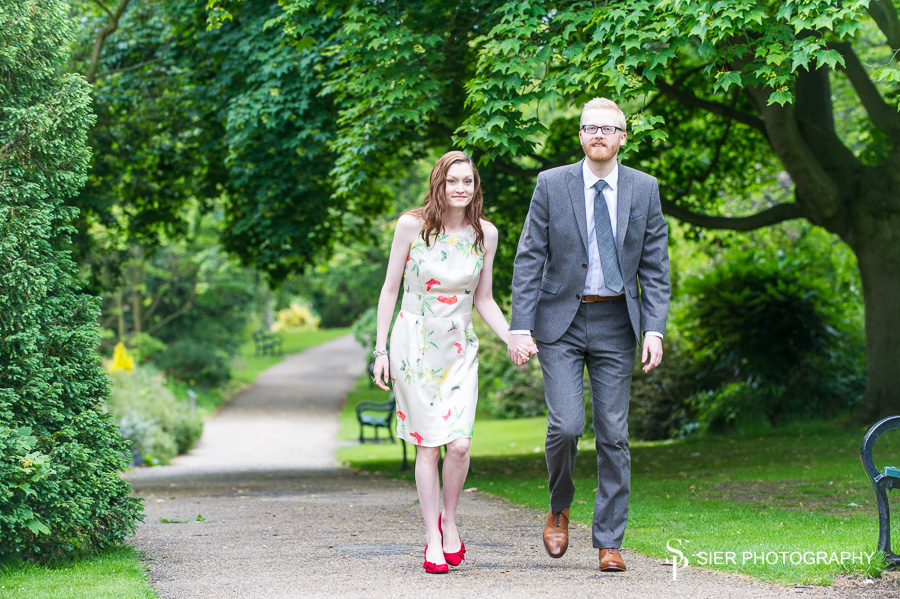 Engagement photography Botanical Gardens Sheffield
