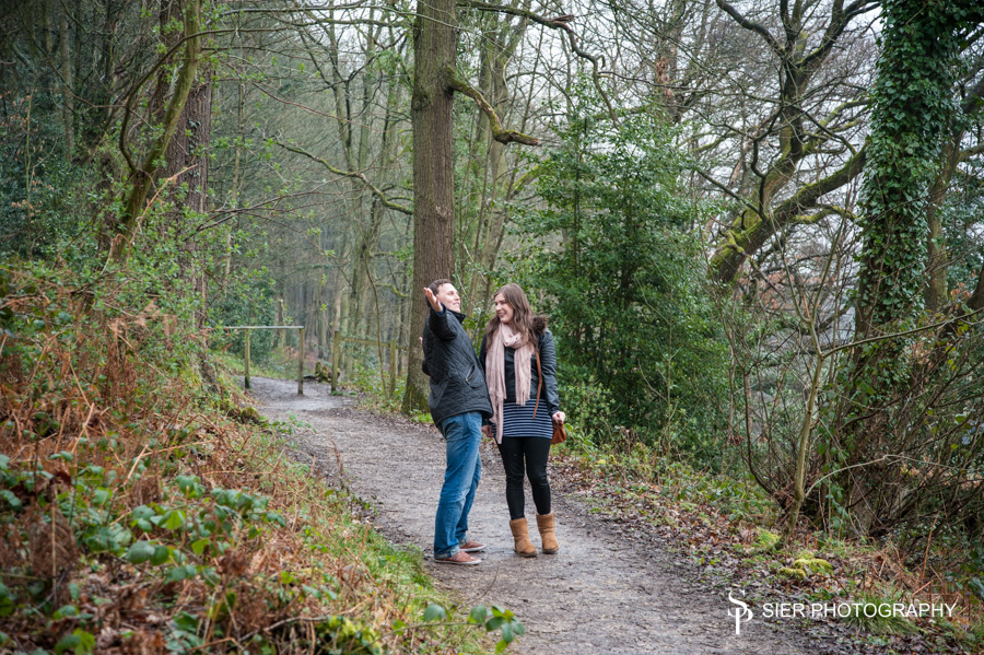 Engagement photography at Linacre Reservoirs near Chesterfield, Derbyshire