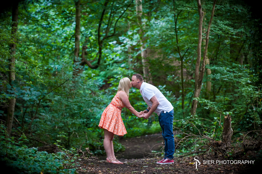Engagement photography in the Rivelin Valley, Sheffield prior to their Wedding at the Hilton Hotel Sheffield